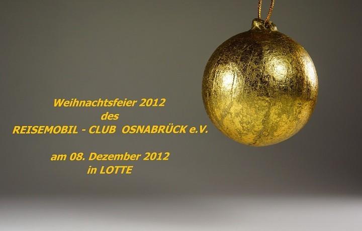 Weihnachtsfeier Osnabrück.Weihnachtsfeier 2012 Rmc Os E V